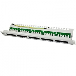 Patch Panel 25xTP, CAT3, ISDN, 19